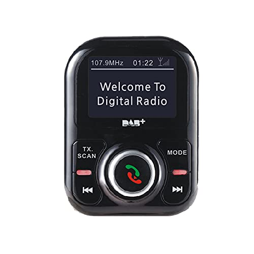 YHD Receptor Dab para Coche, Receptor de Radio Digital Dab de 1,5 Pulgadas,Reproducción de Música Bluetooth A2DP y Llamadas Manos Libres,Line out