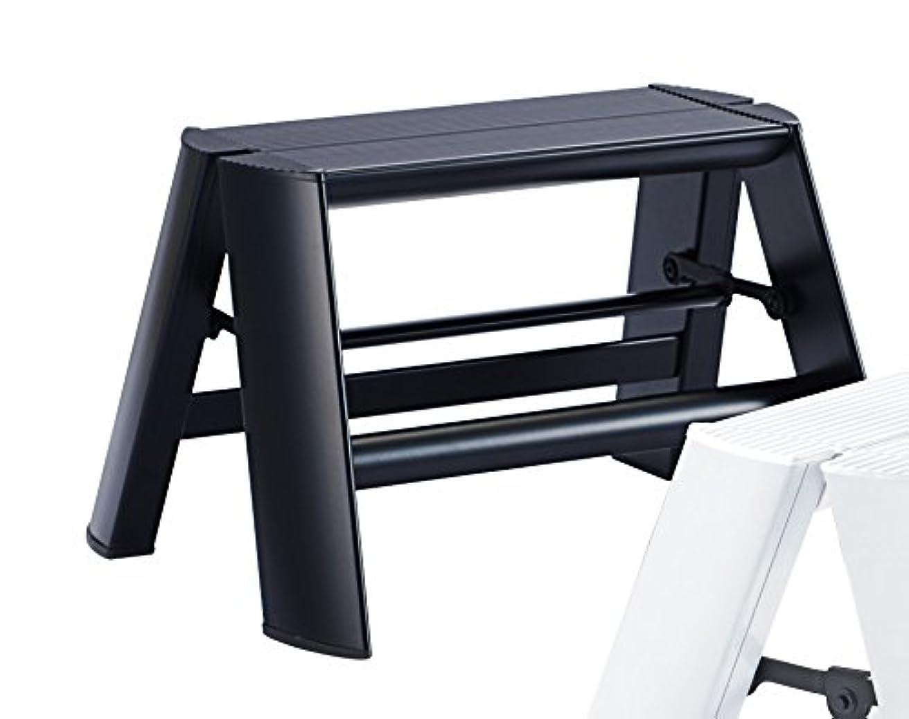 電気的いつも侮辱lucano 1step ルカーノワンステップ 1段タイプ Step stool METAPHYS ブラック(BK)