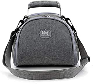 Small Lunch Bag for Woman, Insulated Lunch Box with Shoulder Straps for Kids to School(Gray)