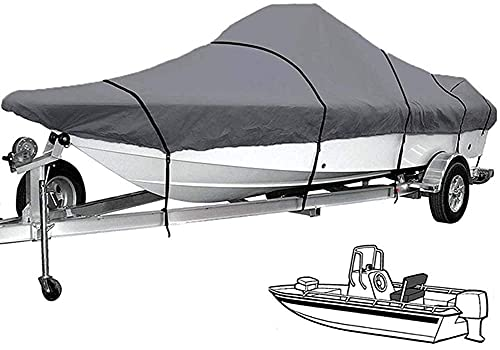 HTDHS 11-24 pies Tapa de Barco de remolques de Servicio Pesado 210D Paño de Oxford Oxford A Prueba de Agua Protección al Aire Libre Pesca de Pesca Ski V-Hull Aparto Anti UV Funda de Barco