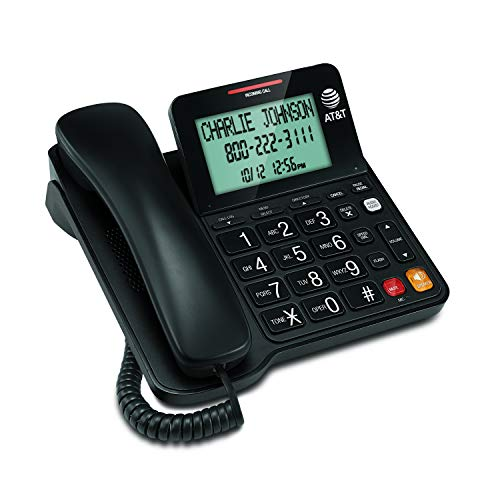 AT&T CL2940 Corded Phone with Caller ID/Call waiting, Speakerphone, XL Tilt Display, XL Buttons &...
