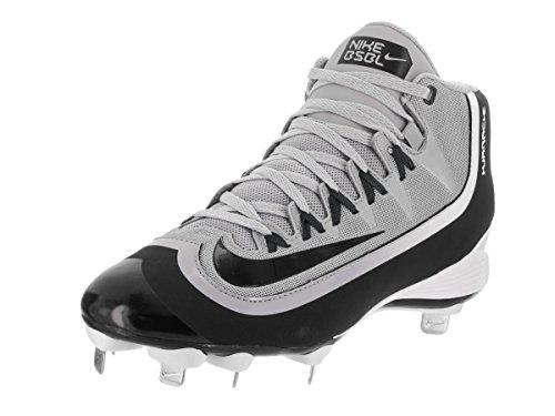 Nike New 807128 Huarache 2KFilth Pro Mid Adult Men 8.5 Gray/Black/Wht Baseball Cleats
