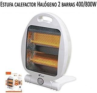 Suinga Calefactor Estufa 2 Tubos de Cuarzo 400W-800W. Calefactor Calentador Radiador Halogeno Calor hogar