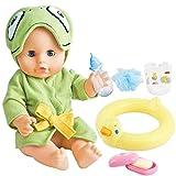 deAO 12 'Interaktives Schwimmen Baby Puppe Badezeit Bade- und Schwimmspielset mit Spielzeug Gummiring, Seife und Zubehör Inclusive