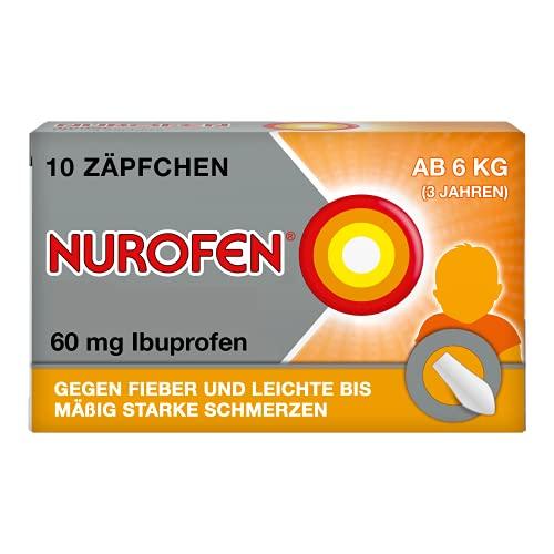 Nurofen Junior 60 mg Zäpfchenbei Fieber & Schmerzen ab 3 Monaten, 10 St. Zäpfchen