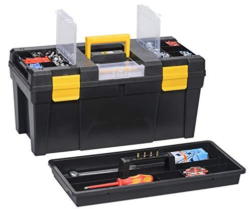 Werkzeugkoffer, 510x 240x 240mm, schwarz
