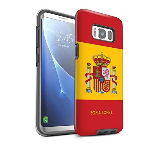 Personalizado Bandera Nacional Nación Personalizar Funda Brillo para el Samsung Galaxy S8/G950 / Español/De/España Diseño/Inicial/Nombre/Texto Carcasa/Estuche/Case Prueba de Choques
