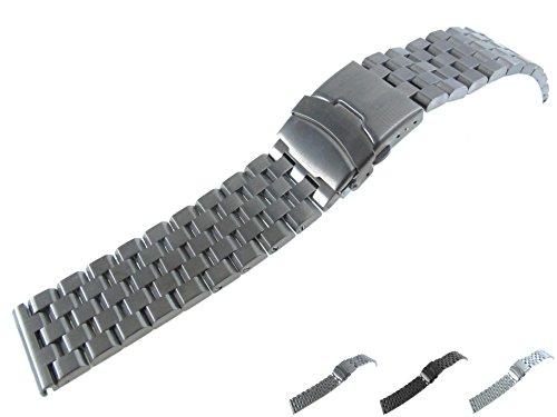 24 mm Correa de Reloj de Pulsera de Acero Inoxidable Cepilla