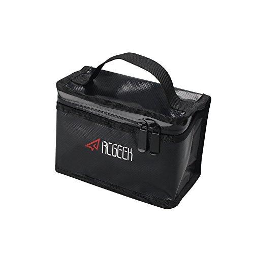 Large Capacity Battery Bag BonFook Lipo Safe PVC Battery Storage Guard Bag, Fire Resistant Explosion Proof Compatible DJI Spark/Mavic Pro/Mavic Air/Phantom3/4 (165x110x85mm)