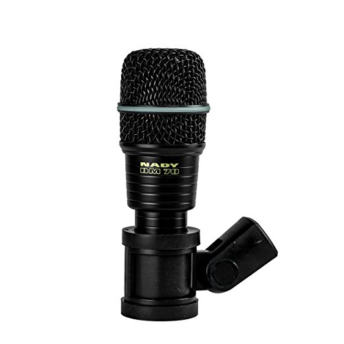 Nady DM-70 Drum Microphone - Cardioid Pattern, Neodymium Element, All-Metal Construction and Rubber Mount to minimize Vibration