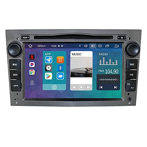 Navigatore GPS stereo automatico Android 10 7 pollici 2 Din compatibile con Opel Vauxhall Holden Antara Astra H Corsa C / D Zafira Tigra TwinTop 1 GB RAM 16 GB ROM Bluetooth 4.0 USB Mirrorlink Grigio