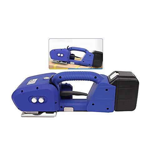 Reggiatrice automatica per saldatura Pressaballe elettrica portatile per PET/PP Reggiatrice per acciaio a fusione calda Con batteria ricaricabile 6000mAh / 14v (blu)