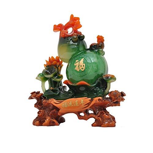 Chunshop Adorno Feng Shui Feng Shui Jacinto decoración Sala de Estar gabinete de televisión Entrada casa Interior Escritorio wu lou Estatua decoración Artesanal wu lou Riqueza, la
