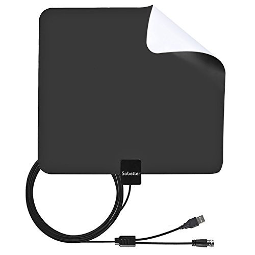 Amplifier Antenna - TV Antenna 50 Miles RangeCompatible 4K 1080P Free TV Channels,Powerful Detachable Amplifier Signal Booster,Longer Coax Cable for All TVs