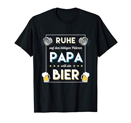 Herren Ruhe Papa will Bier | Bier Alk Schnaps Männertag & Vatertag T-Shirt