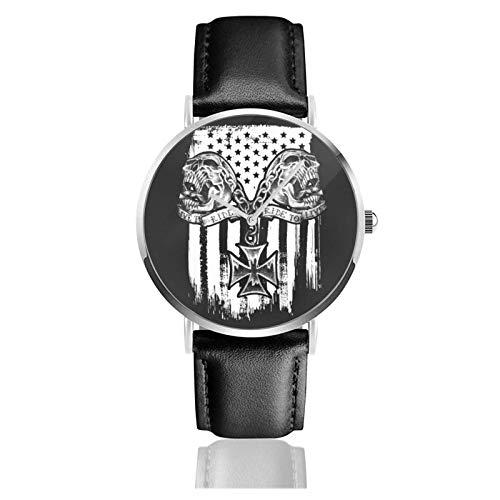 Uhren Einfache Stil Armbanduhr Bandera Americana Celta Quarzuhr Lederarmband Uhr Arabische Ziffern Analoge Uhr Quarzuhr Kleideruhr Correa de Cuero PU 38mm