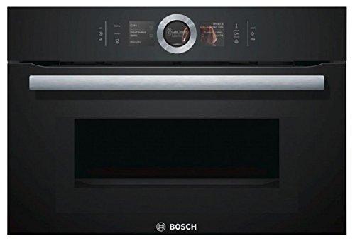 Bosch CMG636BB1 EcoClean Einbau-Backofen Multifunktions-Backofen Umluft + Mikrowelle / 45 Liter/Edelstahl/Klassische Tür (2 Glas) / Höhe 45 cm