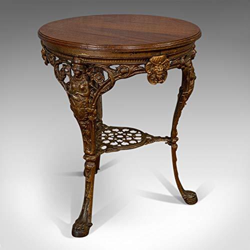 Antiker Britannia-Tisch, englisch, Mahagoni, für den Außenbereich, Garten, Biclam Foundry