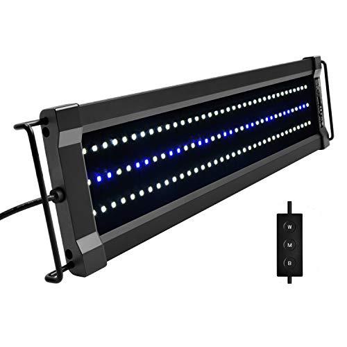 NICREW ClassicLED G2 Éclairage Aquarium, Rampe LED Étanche avec 2 Canaux Contrôleur, Lumières...