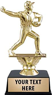 Includes 3 Lines of Custom Engraving Prime Dynamic Football Trophies 6 1//2 3D Resin Football Player Trophy Award