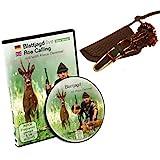 K & S Rottumtaler Wildlocker - Juego de caza de hojas de corzo y DVD de caza en hojas en directo (set con hojas de corzo tipo rosa)