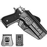 Beretta 92fs Holster OWB for Beretta 92 92G 92S, Polymer Outside Waistband with Belt Clip & Paddle 9mm Gun Holster Pistols