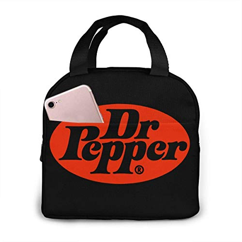 Portable Lunch Bag Dr Pepper Reusable Insulated Lunch Bag Camping Bag Portable Tote Box Meal Prep Or Travel