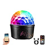 Disco Ball Lamp with Bluetooth Speaker, 3-in-1 Party Lights 9 Colors DJ Stage Color Light Night Lamp with Remote Control for Kids Bedroom Wedding Birthday Bar Club
