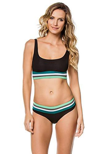 Becca by Rebecca Virtue Women's Refine Classic Bikini Top Black S