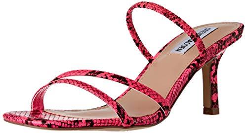 Steve Madden Damen Loft Sandale mit Absatz, Pink Snake, 40 EU