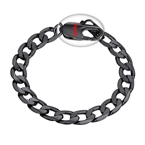 PROSTEEL Heavy 316L Stainless Steel Bracelets Mens Boys Biker Rock Punk Bracelet Black