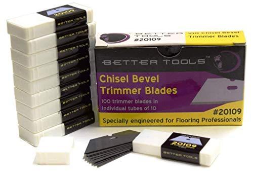 Better Tools - Chisel Bevel Carpet Trimmer Blade (100 blades/box)