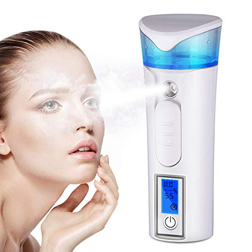 Nano Facial Sprayer, 30ml Empty Moisturizing Mist Spray Tools with Cool Steamer Functions Atomization & Handy Mister for Cooling The Skin and Easily Getting rid of Fatigue