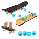 Bonici Maple Wood Finger Skateboard with PU Non-slip Pad and Professional Bearing Wheels by Bonici -