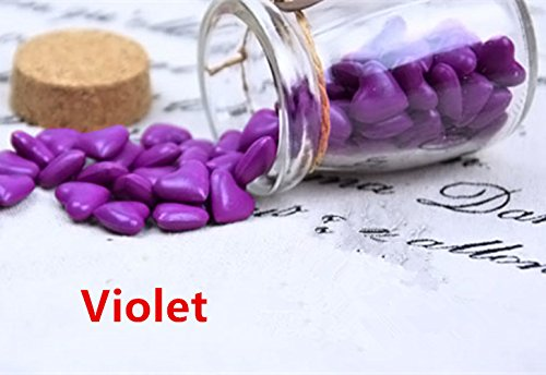 MDLG Vintage 90st Violet hart vorm gebotteld glas voor Wax afdichting stempel bruiloft uitnodigingen lijm Wax Sticks kralen