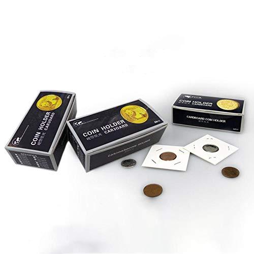 BLOUR 100 unids/Set Suministros de colección de Soporte de Almacenamiento de exhibición de cartón para Monedas de 40x40mm Держатель картонных монет
