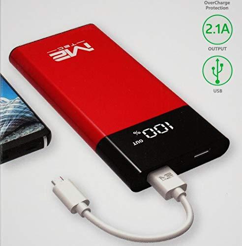 **Premium** Profi Powerbank mit LED Display vers. Farben - 11000 mAh - Modell 2019 - Powerakku - Zusatzakku - für alle Handy - sehr leicht - langlebig - Handy Ladegerät - Power Akku (Schwarz)