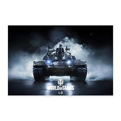 Spreadshirt World of Tanks M48A5 Patton Poster 60x40 cm, Weiß