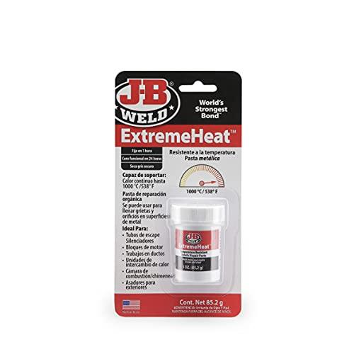 J-B Weld 37901SPA - Pasta metálica - Metal - Altas temperaturas - Resina - Epoxi - Metal - Orificios - Tubos de escape - Silenciadores - Motor - Grietas- Reparaciones - Hasta 1000ºC - 85,2gr