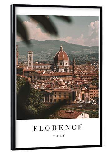 artboxONE Poster mit schwarzem Rahmen 30x20 cm Städte Dreamy Florence - Bild Renaissance Italy...