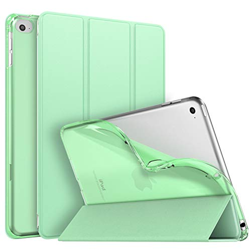 MoKo Case Fit New iPad Mini 5 2019 (5th Generation 7.9 inch), Slim Smart Shell Stand Folio Case with Soft TPU Translucent Frosted Back Cover, Auto Wake/Sleep, Green