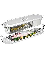 Judge - Pochador para pescado en forma de S, Plateado, 60 cm, 13 litros