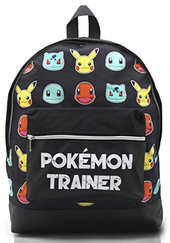 Pokemon Large Backpack for Boys and Girls Charmander Bulbasaur Pokemons Trainer Rucksack Kids Pikachu Cards Travel Bag