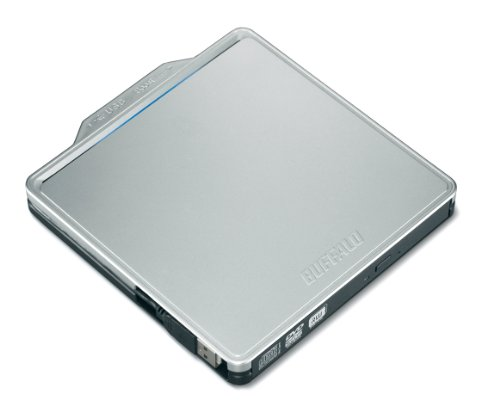 BUFFALO Boostケーブル搭載 ポータブルDVDドライブ シルバー DVSM-PC58U2V-SV