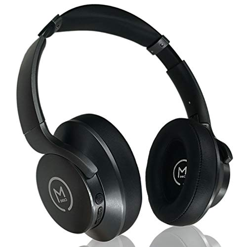 Morpheus 360 Ultra Premium Bluetooth Headphones, Wireless Headphones Over Ear, Deep Bass, Hi-Fi Stereo, Wireless and Wired Mode for PC/Mac/iPad/iPhone/Cell Phone/TV HP7500BLK