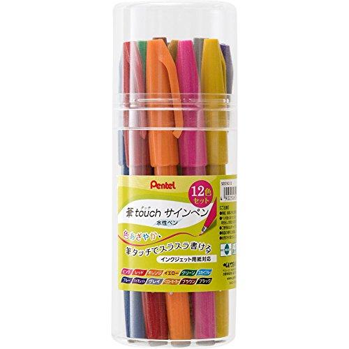 Pentel Stiftber?hrung Filzstift 12 Farbsatz SES15C-12 (Japan-Import)