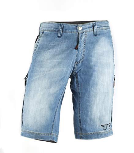 Jeanstrack Heras Jeans Pantalon Corto de Mountain Bike, Unisex Adulto, Sky, M