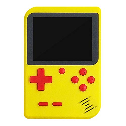 Spielekonsole für Unterwegs, 400 Klassische Spielen Vintage Tragbare Handheld Retro Konsole Retro-Videospielkonsole Unterstützt das Anschließen an den TV-Anschluss für Kinder und Erwachsene (Gelb)