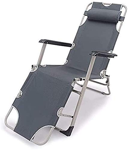 Recliner Indoor Lounger Chairs Deck Folding Garden Recliner Gray Zero Outdoor Chair Made From Steel Frame For Patio Or Beach Beach, Balcony, Park Or Campsite