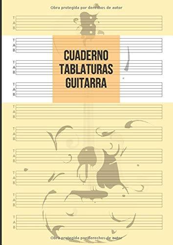 Cuaderno Tablatura Guitarra: Guitarra 6 Cuerdas, 10 Tablaturas por Página, 100 Páginas A4